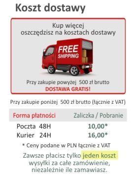 Darmowa dostawa w Fireshop.pl